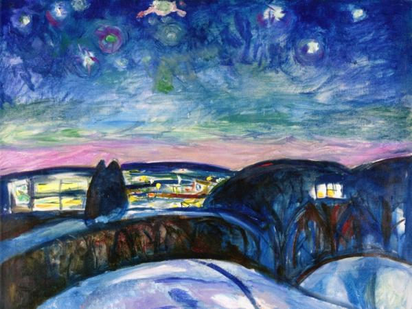 Munch - Starry night 1922-24